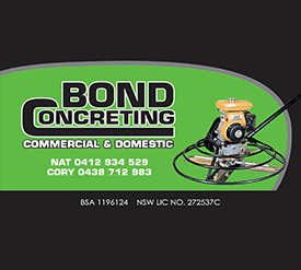 Bond Concreting
